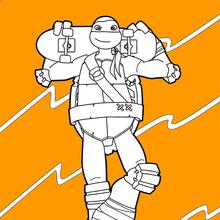 Dibujo para colorear : Tortugas Ninja
