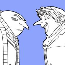 Dibujo para colorear : Gru y Dru