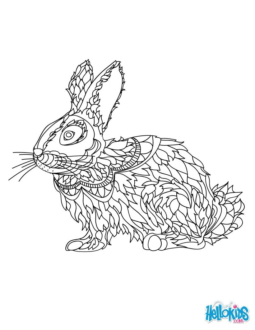 Dibujos para colorear conejo
