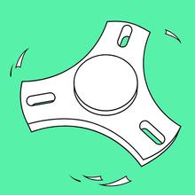Dibujo para colorear : Fidget Spinner 1