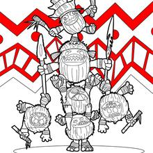 Dibujo para colorear : Vaiana - Kakamora