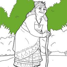 Dibujo para colorear : Vaiana - Tala