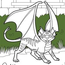 Dibujo para colorear : Gato drágon