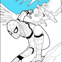 Dibujo para colorear : Spiderman Homecoming 1