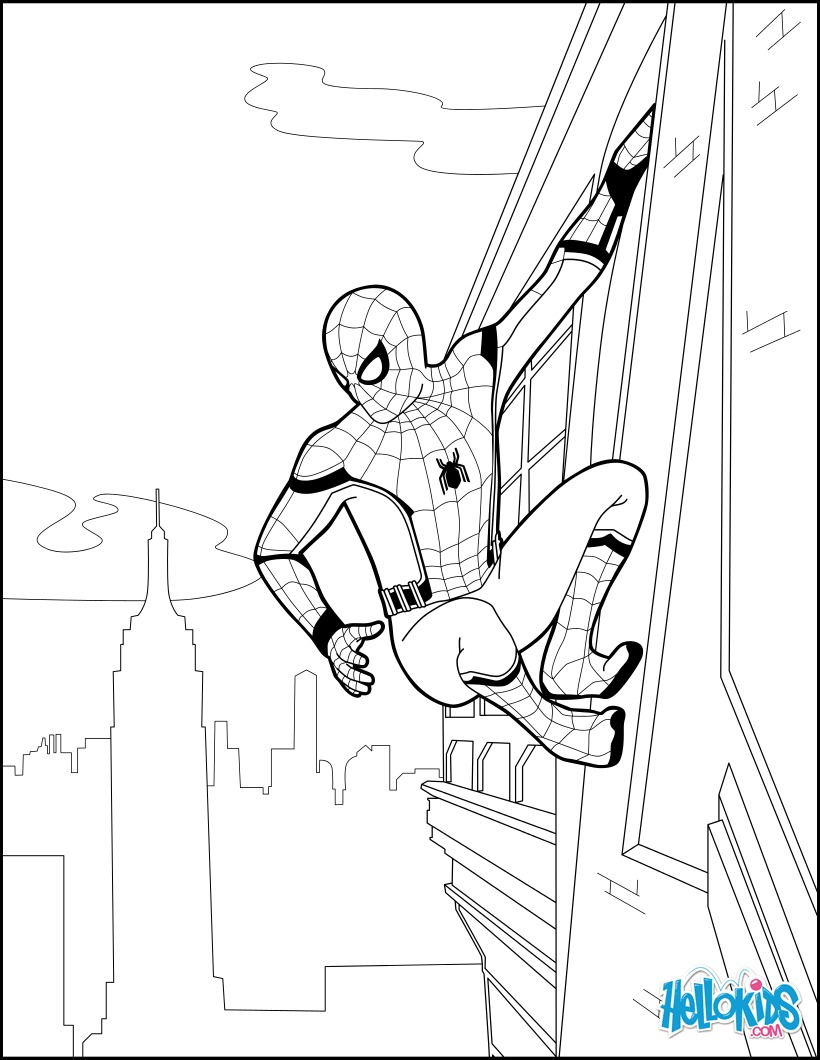 Dibujo para colorear : Spiderman Homecoming 2