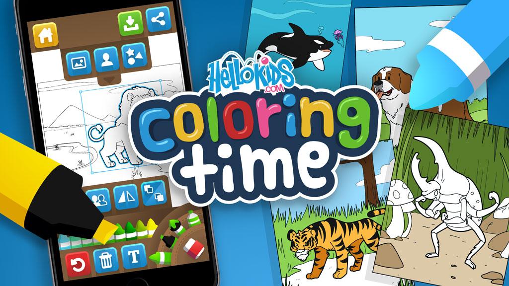 HelloKids Coloring Time Aplicación