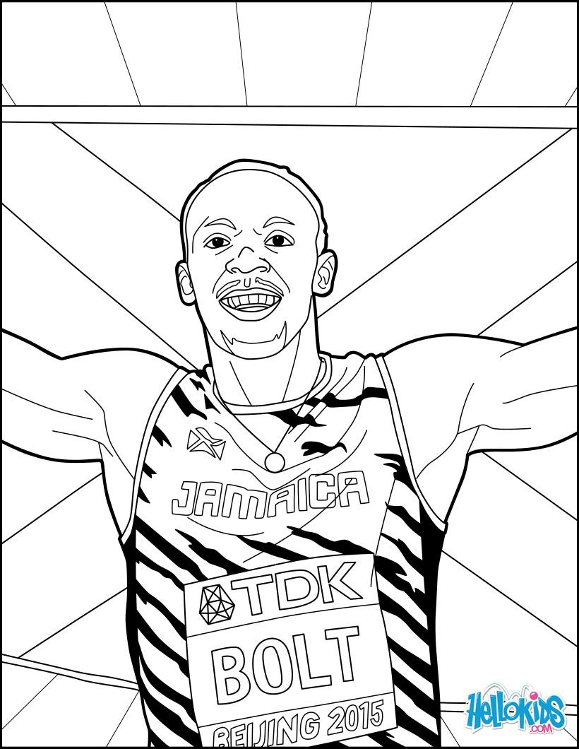 Dibujo para colorear : Bolt: Campeonato Mundial de Atletismo de 2017