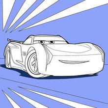 Dibujo para colorear : Cars 3: Jackson Storm