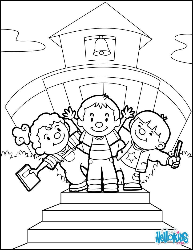 Dibujos para colorear de vuelta a la escuela con amigos - es ...