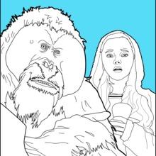 Dibujo para colorear : El planeta de los simios 2