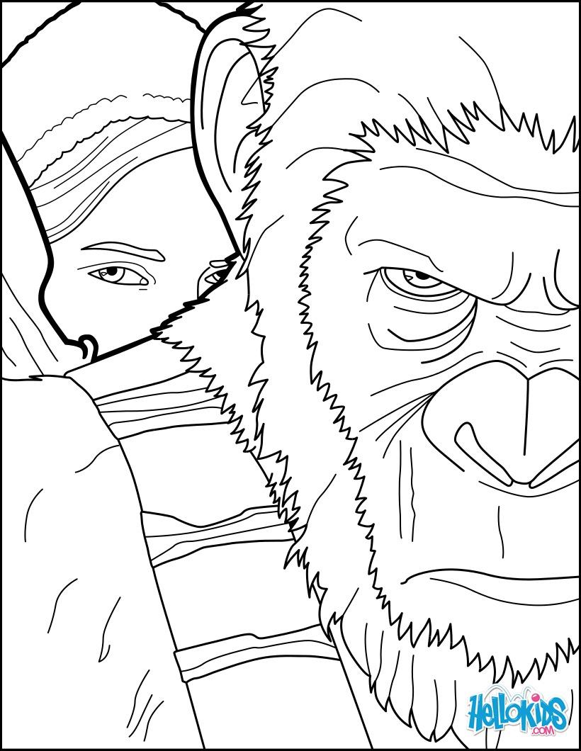 Dibujos Para Colorear El Planeta De Los Simios Es