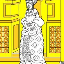 Dibujo para colorear : Princesa Africana