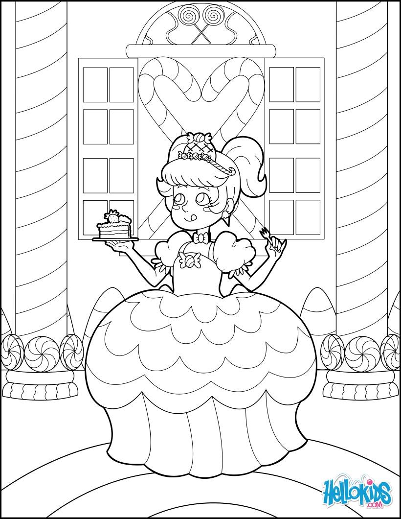 Dibujo para colorear : Princesa Caramelo