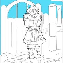 Dibujo para colorear : Princesa de hielo
