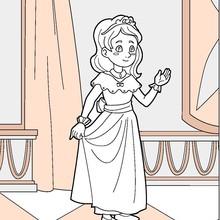 Dibujo para colorear : Princesa del niño