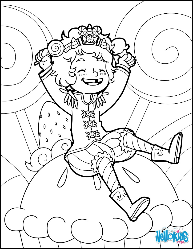 Dibujo para colorear : Principe Caramelo