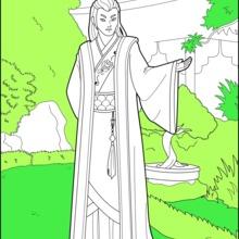 Dibujo para colorear : Príncipe Chino