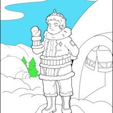 Dibujo para colorear : Príncipe de hielo