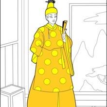 Dibujo para colorear : Príncipe japonés