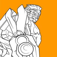 Dibujo para colorear : Transformers Bumblebee