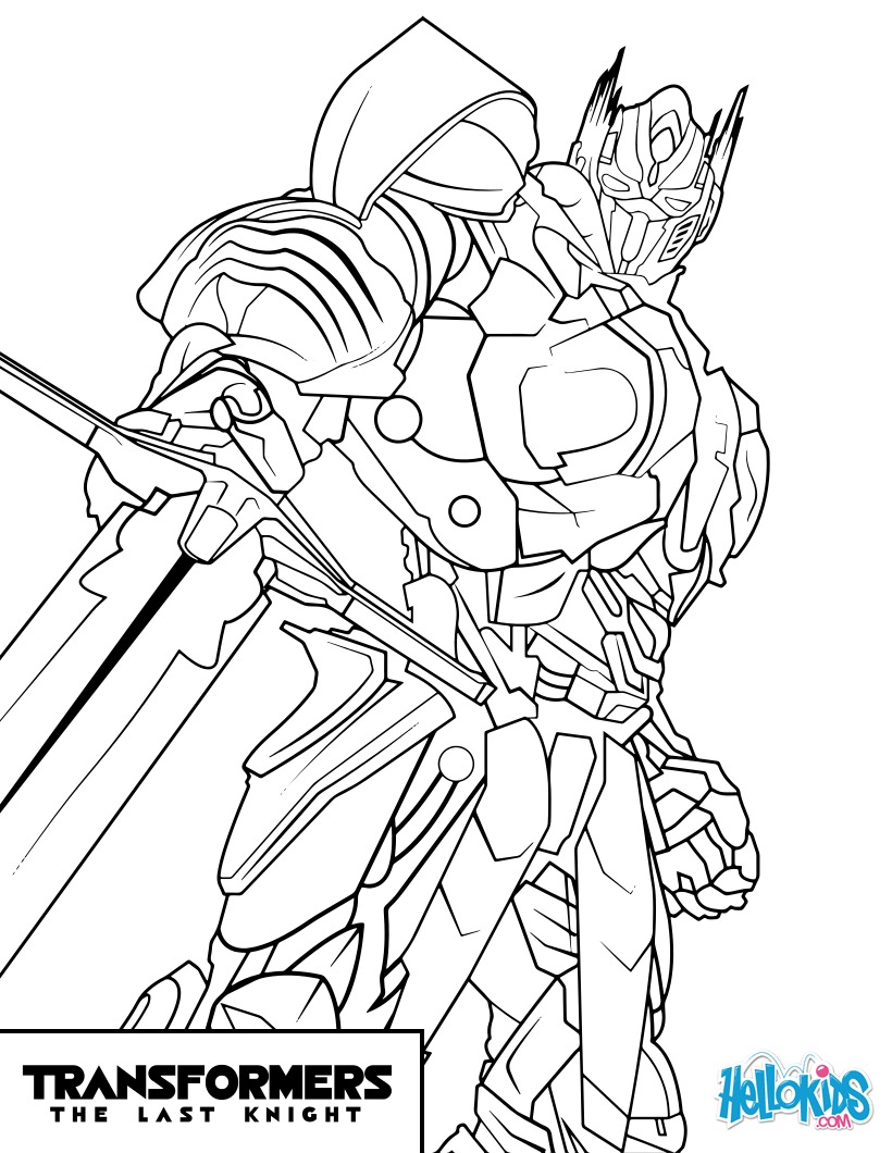 Dibujos Para Colorear Transformers Optimus Prime Es