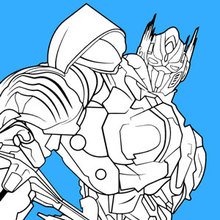 Dibujo para colorear : Transformers Optimus Prime