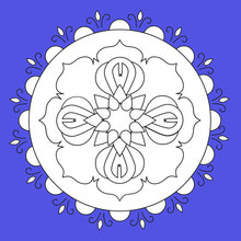 Dibujo para colorear : Mandala de flores