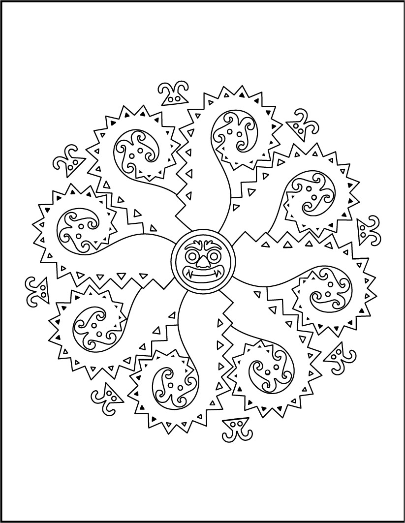 Dibujo para colorear : Mandala de Monstruos