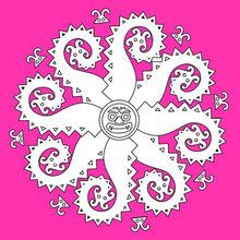 Dibujo para colorear : Mandala des Monstres