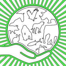 Dibujo para colorear : Día Mundial de los Animales