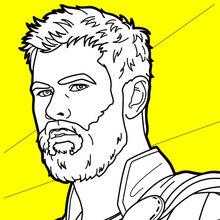 Dibujo para colorear : Thor Ragnarok