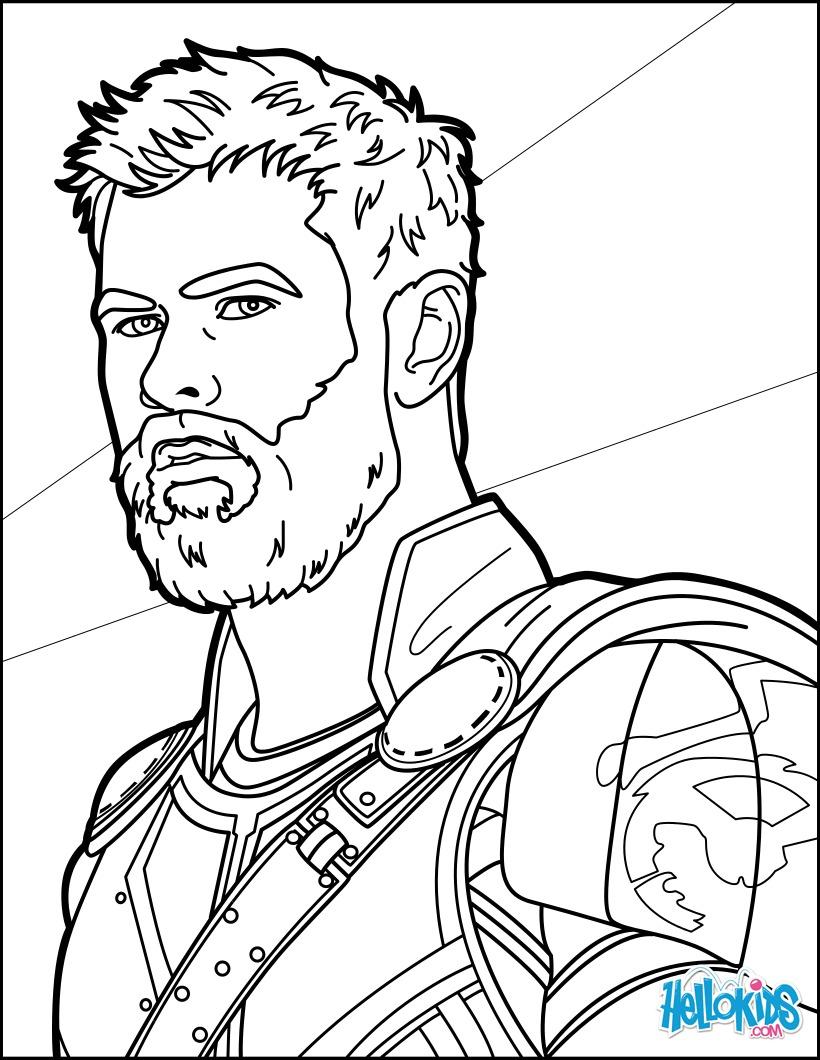Dibujos para colorear thor ragnarok - es.hellokids.com