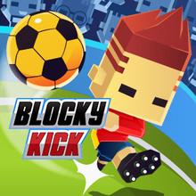 Juego para niños : Blocky Kick