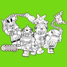 Dibujo para colorear : Ninjago - Chico Malos 2