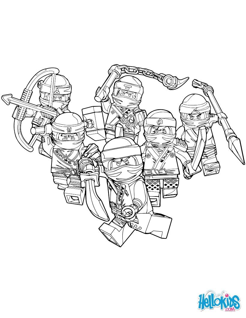 Dibujos para colorear ninjago - chicos buenos - es.hellokids.com