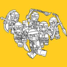 Dibujo para colorear : Ninjago - Chicos Buenos