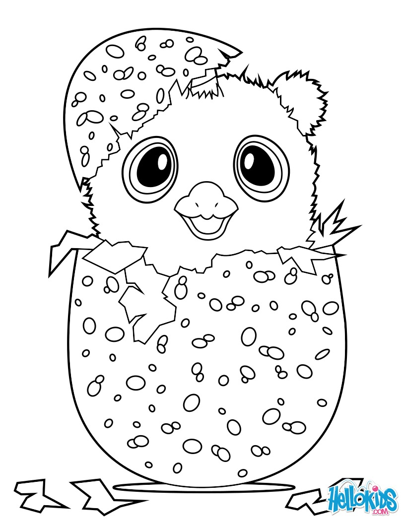 Dibujo para colorear : Hatchimals Owlicorn