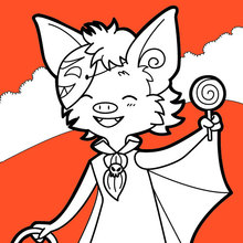 Ilustración : Pequeños vampiros pedir dulce o truco