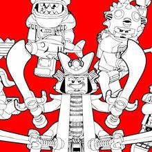 Dibujo para colorear : Ninjago - Chicos Malos