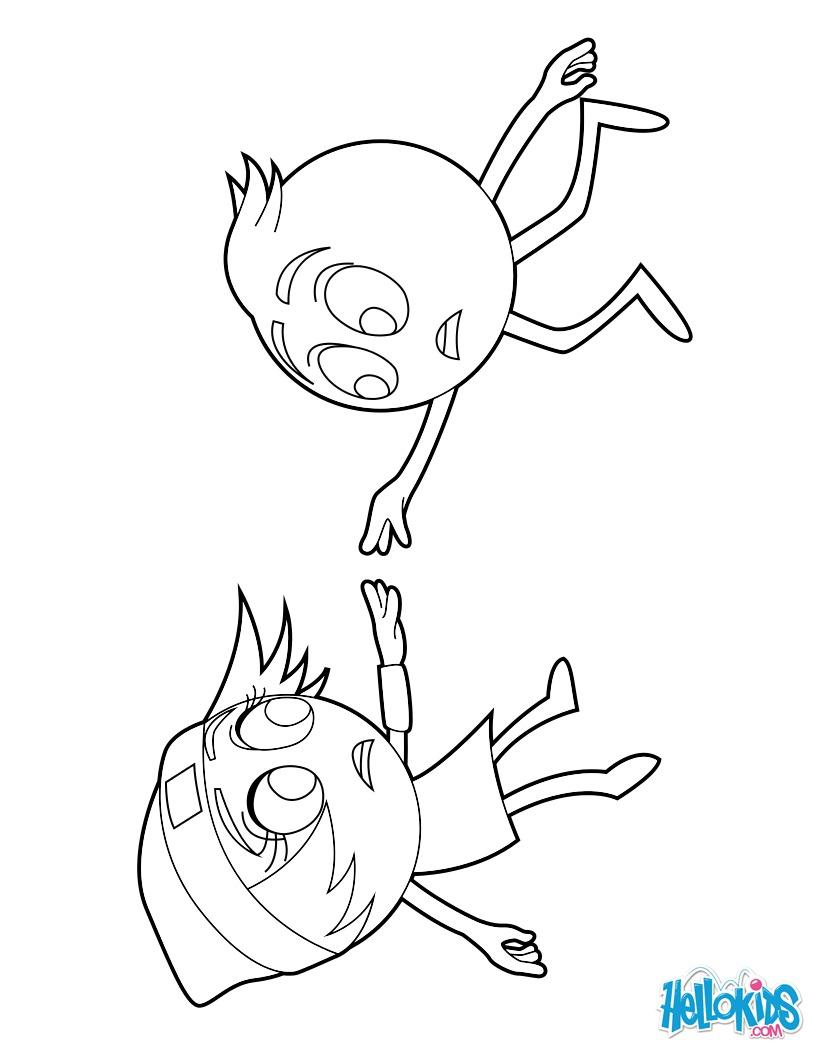 Dibujo para colorear : Gene y princesa Emoji Linda