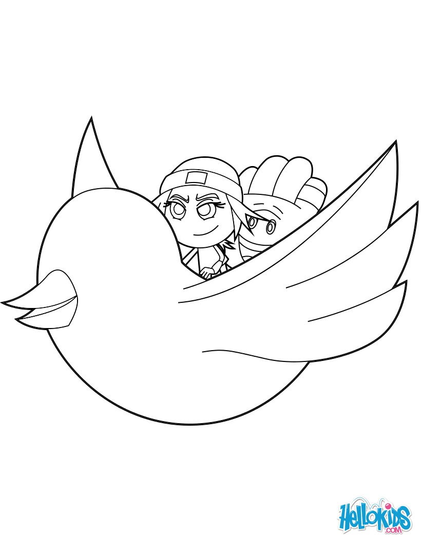 Dibujos para colorear jailbreak and hi-5 volar por el aire en el ...