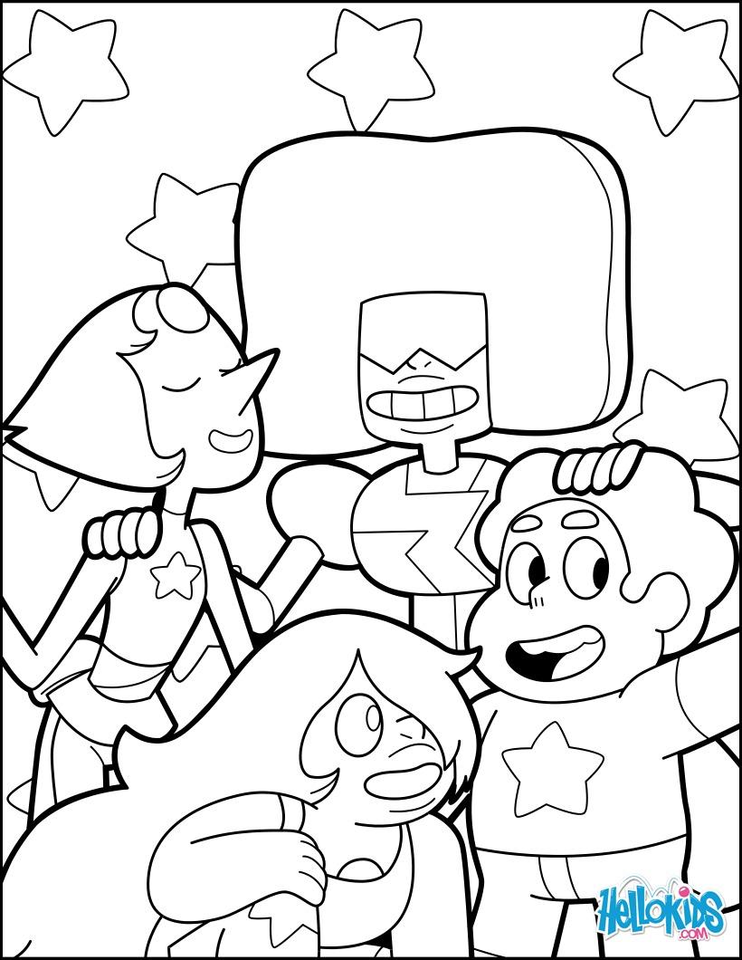 Dibujo para colorear : Steven y las Gemas de Cristal