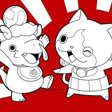 Dibujo para colorear : Monstruos Yokai Watch felices