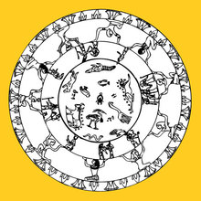 Dibujo para colorear : Signos egipcios mandala