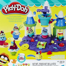 Moldear castillo de helados de plastilina Play- doh