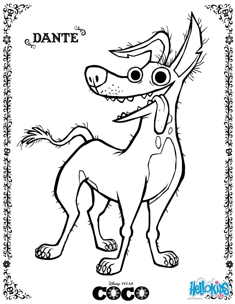 Dibujo para colorear : Dante