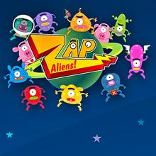 Juego para niños : Zap Aliens