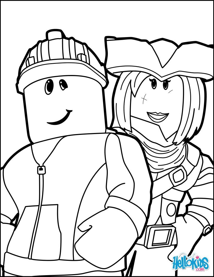 Dibujos Para Colorear Amigos En Roblox Es Hellokids Com