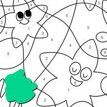 Juego infantil : Feliz estrella de mar en el océano