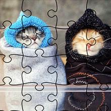 Juego para niños : Jigsaw Puzzle Funny Animals